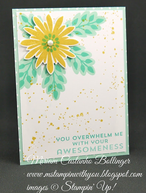 Miriam Castanho-Bollinger, #mstampinwithyou, stampin up, demonstrator, ppa, all occasions card, subtles DSP, flower patch bundle, big shot, gorgeous grunge stamp set, su