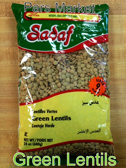 Green Lentils at Pars Market