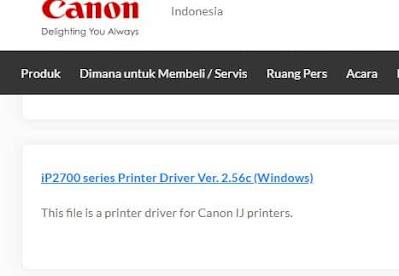 cara instal printer canon ip2770 di windows 10