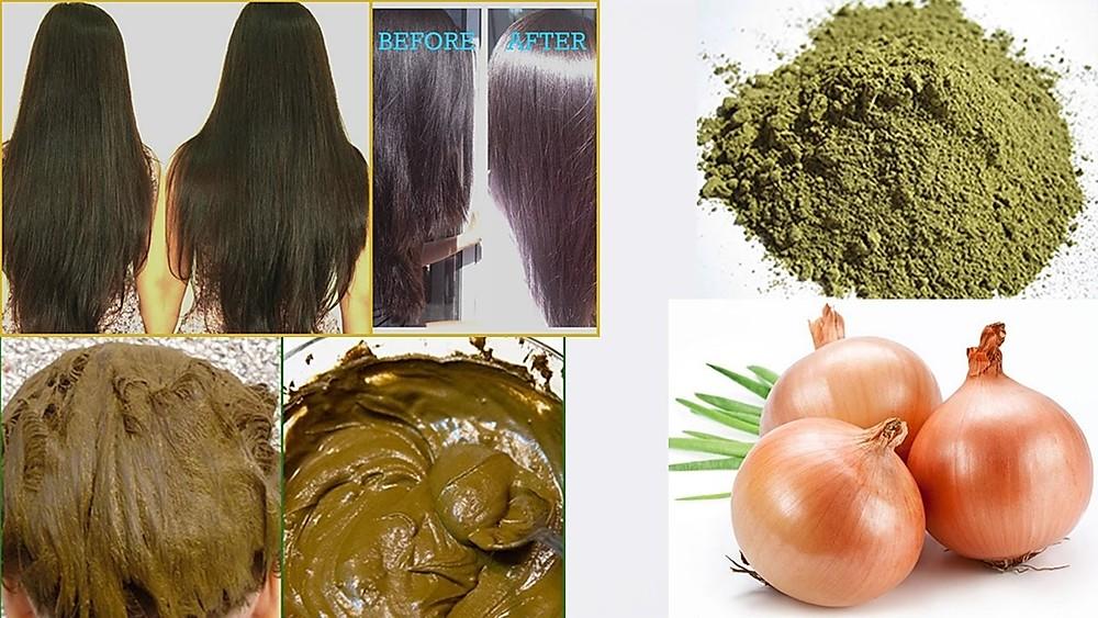 خلطة الحناء لتكثيف الشعر وتنعيمه