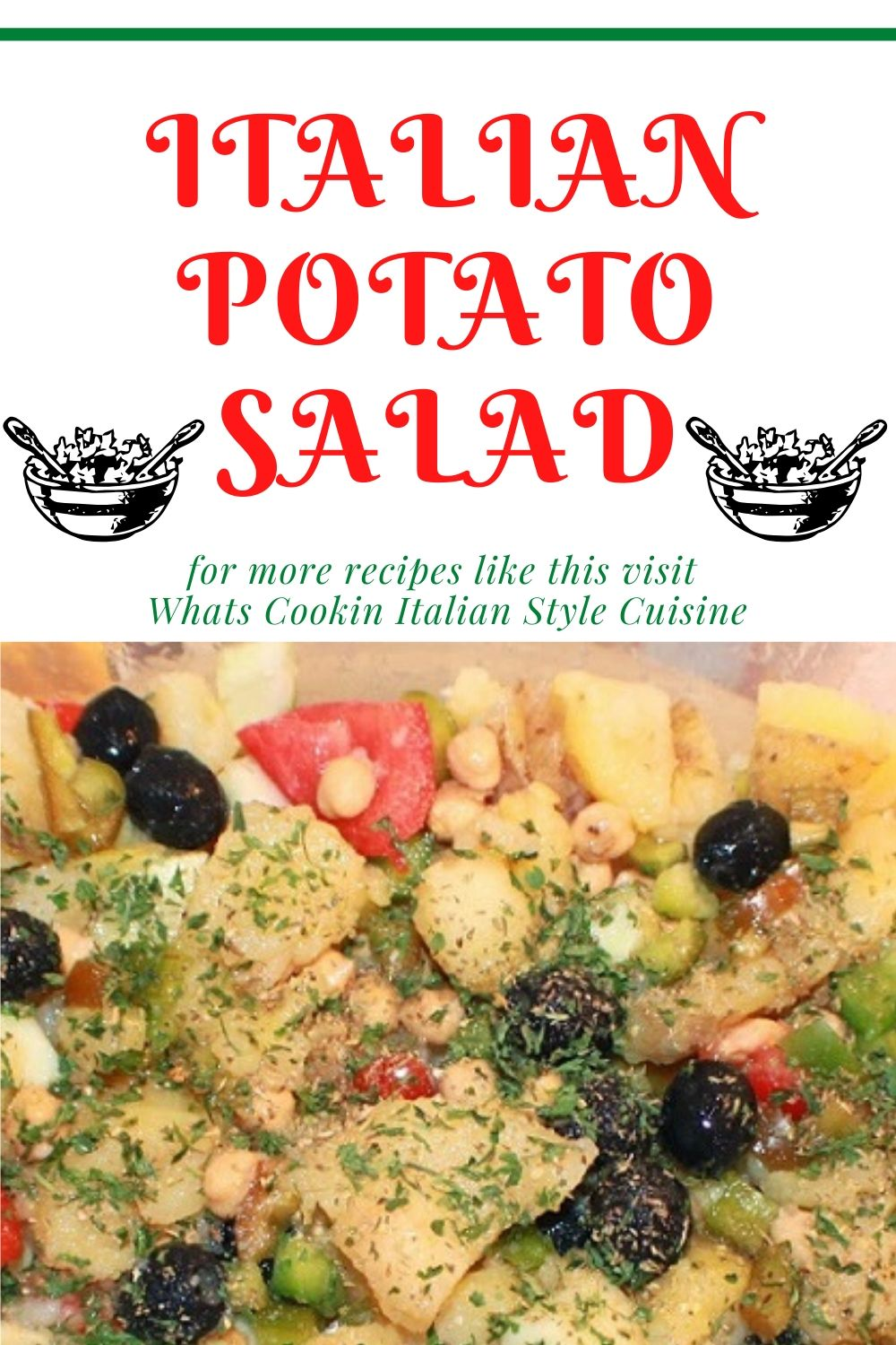this is a pin for later on how to make Italian style potato salad