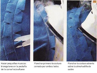 cómo hacer la costura curva