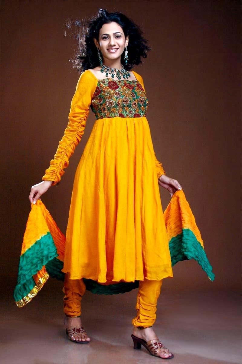 Latest Design Of Assam Type House: Indian Anarkali Style Dresses