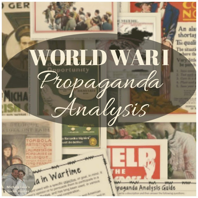 High school teachers, Dissect WWI Propaganda in your classroom by studying and analyzing propaganda of wartime, using inquiry tools and encouraging deeper analysis. #highschoolteachers #teachinginquiry #criticalthinking #primarysourceanalysis