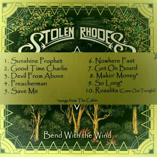 STOLEN RHODES - Bend With The Wind (2016) back