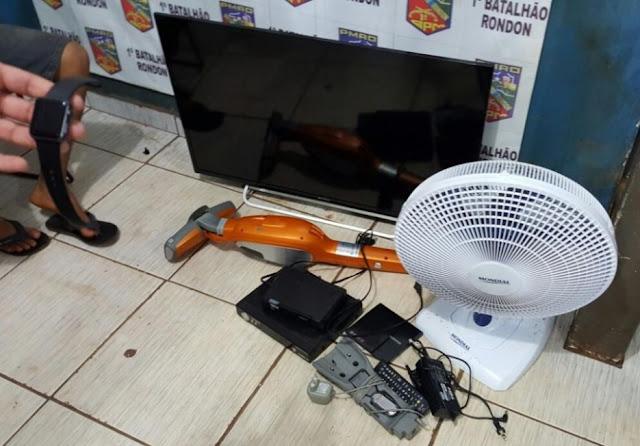 Jovem é preso com produtos roubados na Zona Norte de Porto Velho