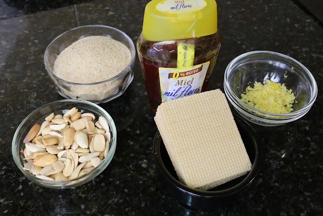 Ingredientes para alajú casero