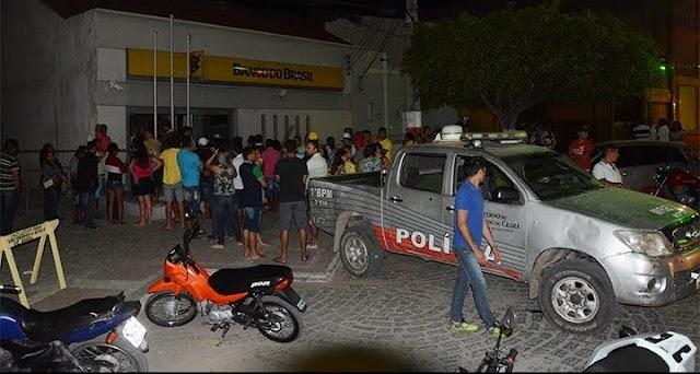Novo Cangaço: Quadrilha invade Pedra Branca durante a madrugada e explode agência do Banco do Brasil