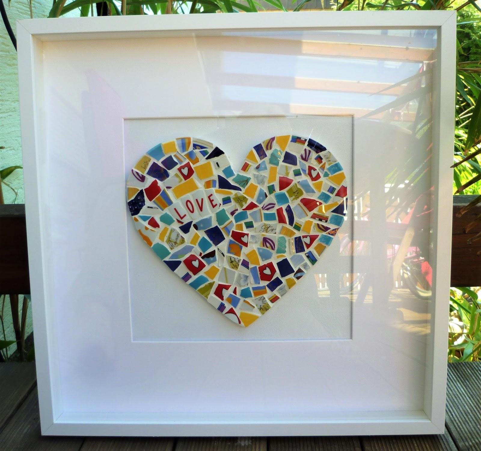 Minilou mosaik herz for Geschenk polterabend
