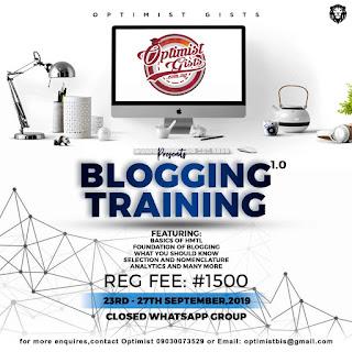 Optimist Gists blogging training