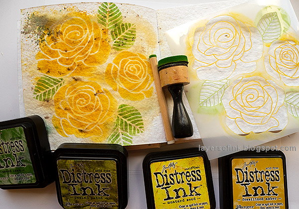 Layers of ink - Yellow Roses Tutorial by Anna-Karin Evaldsson. Simon Says Stamp Rose Trio.