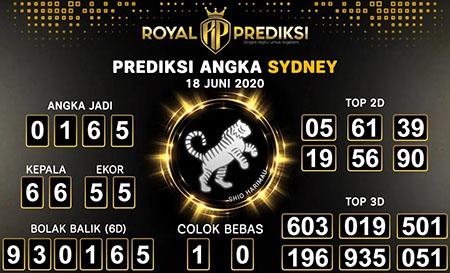 Prediksi Togel Sydney Kamis 18 Juni 2020 - Royal Prediksi