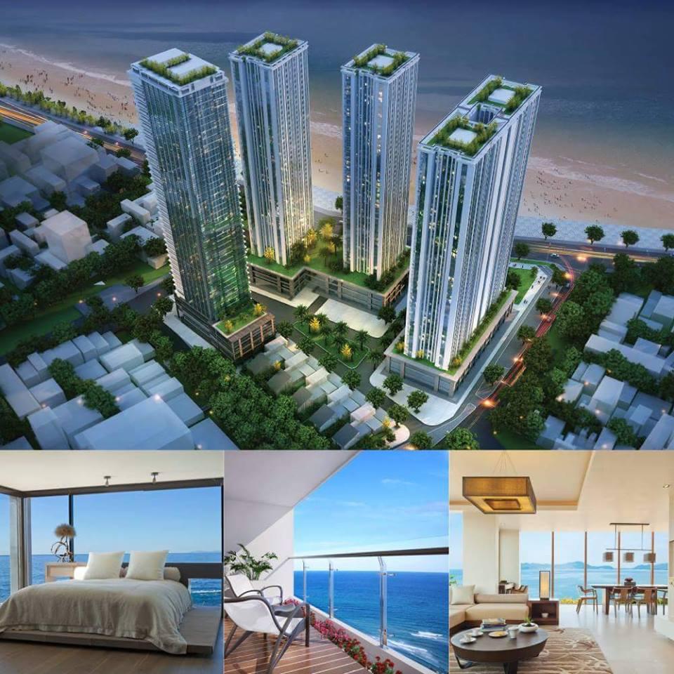 Toàn cảnh căn hộ view biển tại Viễn Triều Nha Trang
