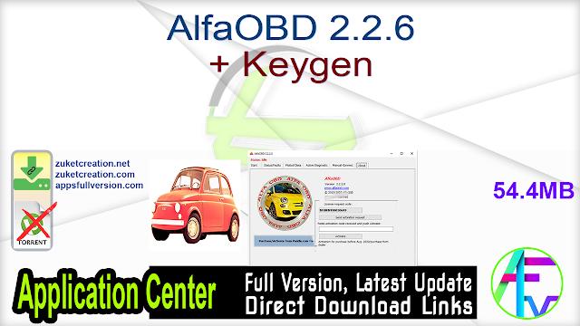 AlfaOBD 2.2.6 + Keygen