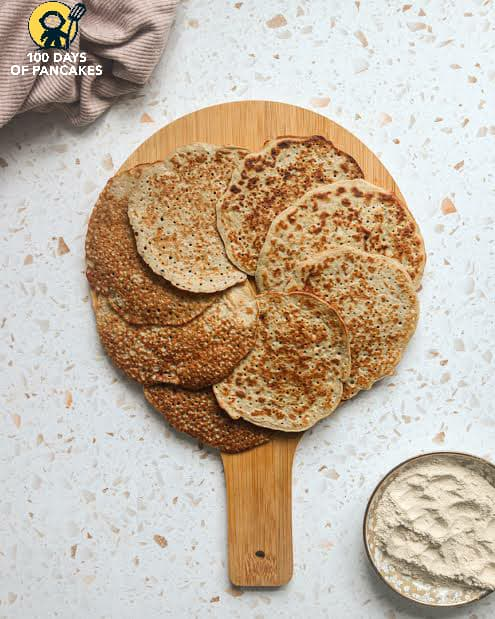 I made these Banana Teff Pancakes and just added an extra tablespoon
