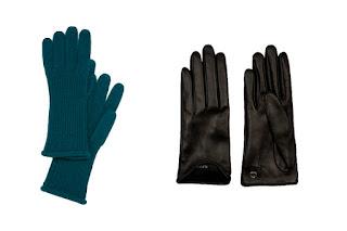 Шерстяные и кожаные перчатки