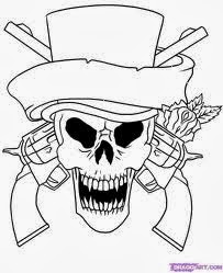 skull coloring pages 3