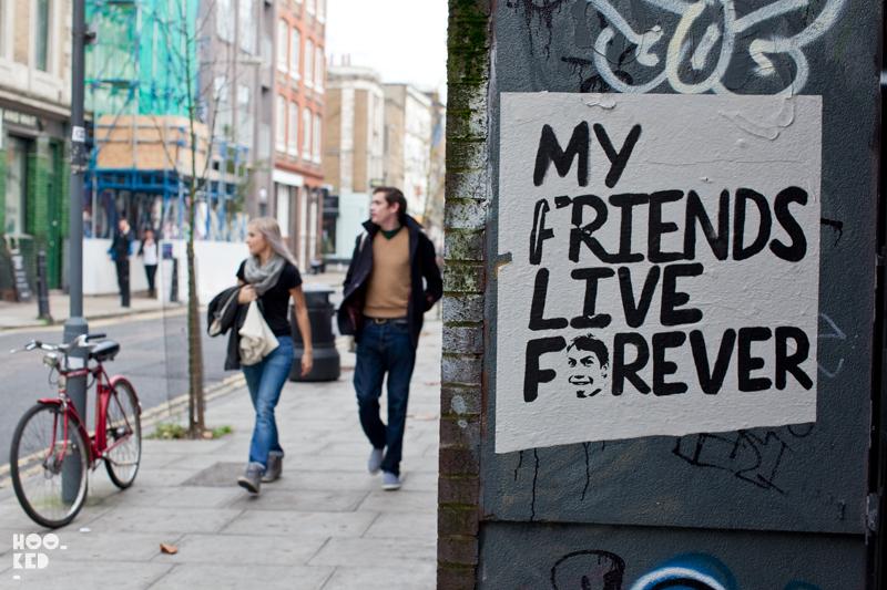 London street art paste-up by artist Borf