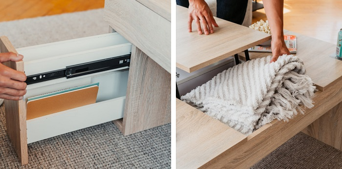 Coolest Coffee Table With Fridge, Dining Table and Bluetooth Speaker