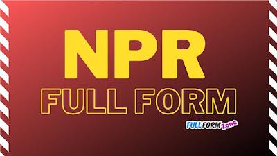 NPR Full Form