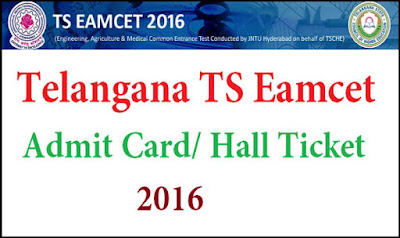 Download Telangana Eamcet Hall Tickets 2016