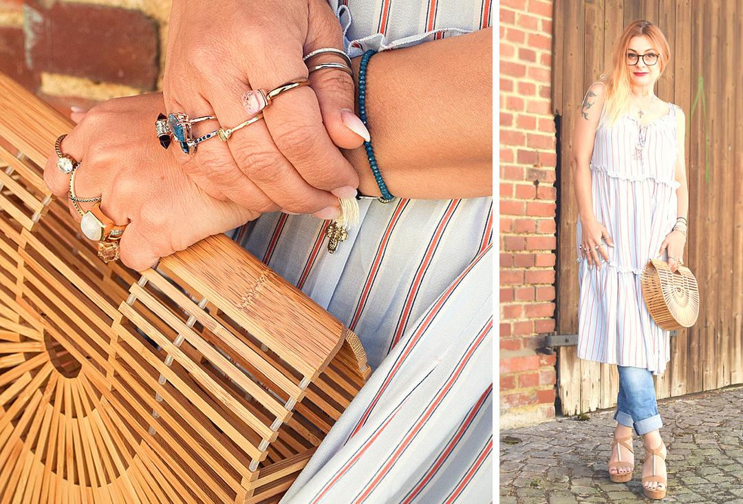 Sommerkleid mit Hose tragen, Modeblogger, Streetstyle