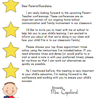 Parent Teacher Conference Thank You Letter | Cover Letter