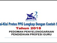 Download Kisi-Kisi Pretes PPG Tahun 2018 Lengkap dengan Contoh Soal