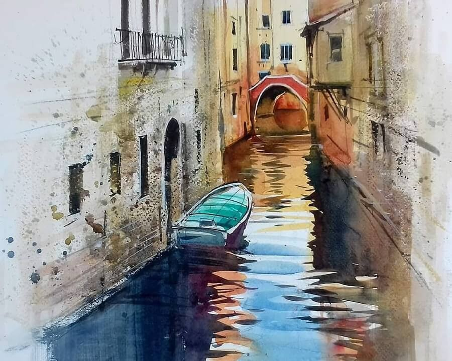 01-boat-canal-trip-Paintings-Milind-Mulick-www-designstack-co