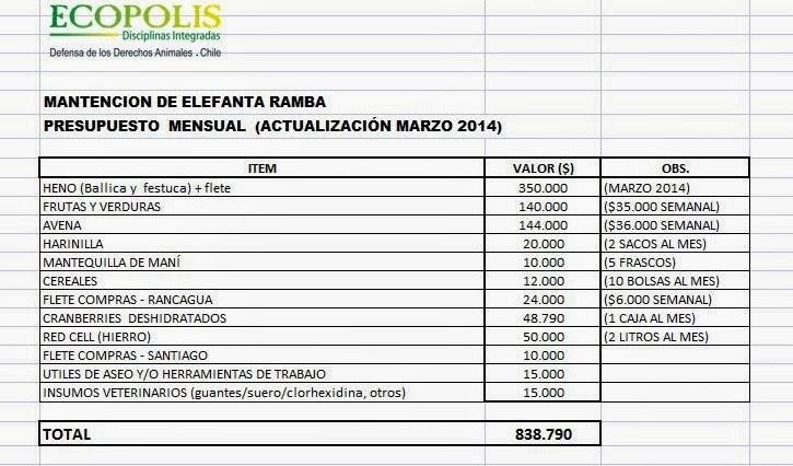 Ecopolis Disciplinas Integradas RAMBA PRESUPUESTO MENSUAL DE