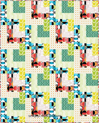 Dropping In quilt Sew Joy Creations Good Vibes fabric