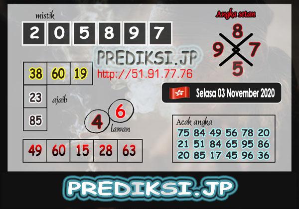 Prediksi JP HK Selasa 03 November 2020
