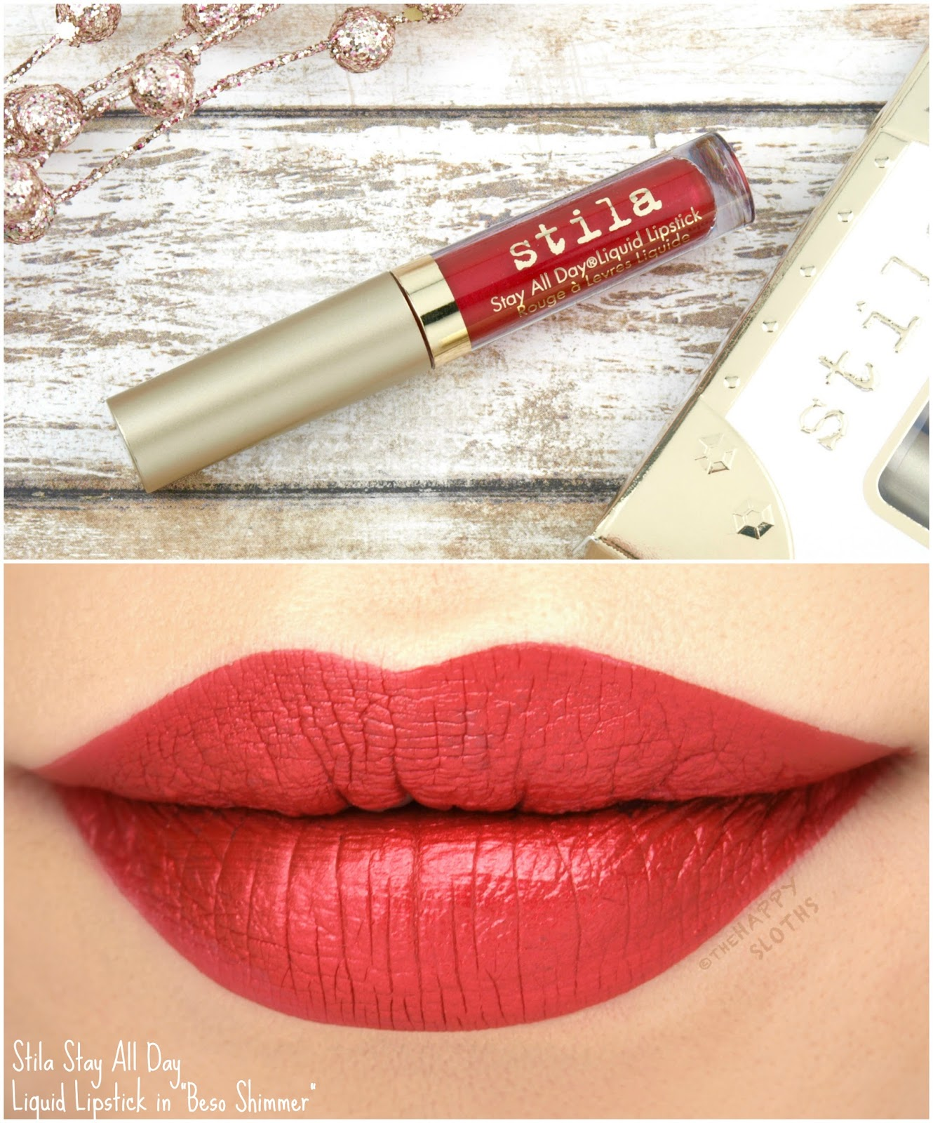"Stila Stay All Day Liquid Lipstick in ""Beso Shimmer"": Review and Swatches"
