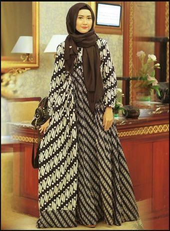 77 Model Baju Batik Muslim 2019  Modern Terbaru Remaja Kekinian ... 8dbfc3636a