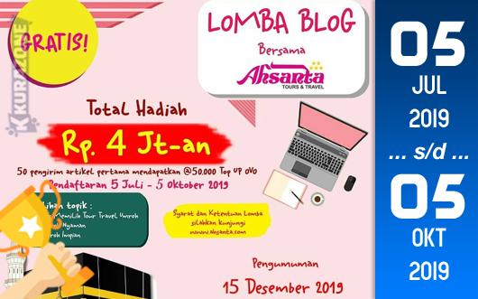Kompetisi Blog - Ahsanta Tours & Travel Berhadiah Total Uang Tunai 4 Juta Rupiah