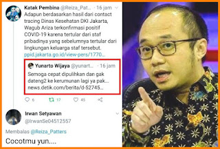 Wagub DKI Kena Corona dari Staf Pribadi, Yunarto Salahkan Kerumunan, Auto Dibully Netizen