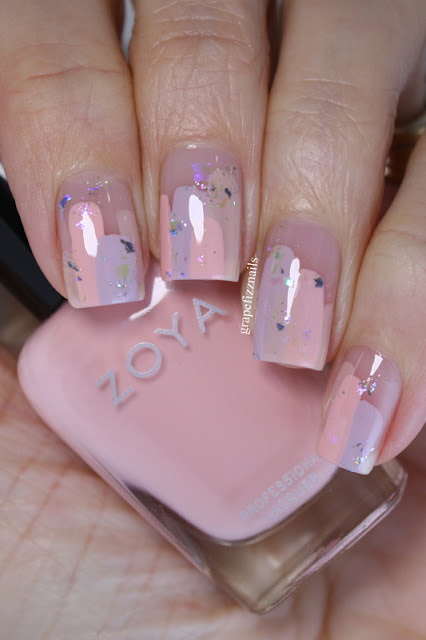 Zoya Pastel Abstract Nail Art