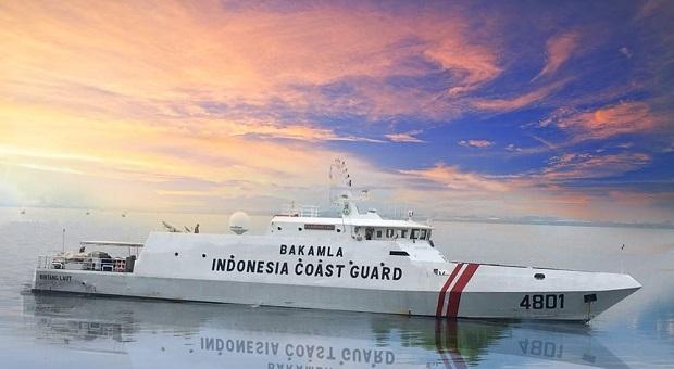 KN Bintang Laut Kawal Peninjauan Kabakamla RI dan Menko Maritim