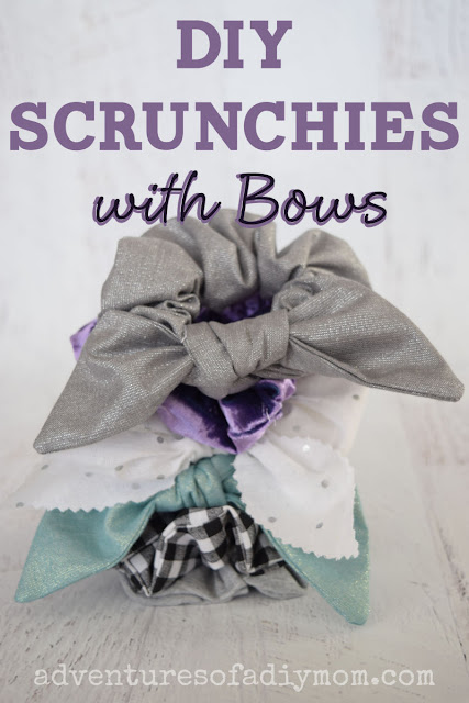 DIY Scrunchies with bows