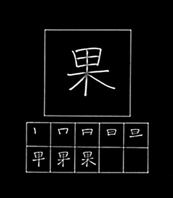 kanji buah