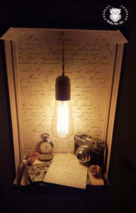 shabbychiclife abat jour shabby vintage. Black Bedroom Furniture Sets. Home Design Ideas