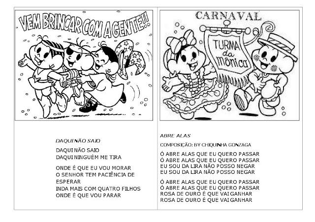 Atividades de carnaval Turma da Mônica