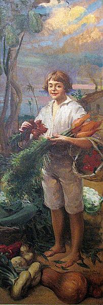 Artur Timóteo da Costa - Menino com Legumes