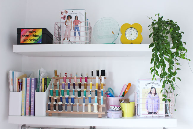 Tilly's home sewing space tour