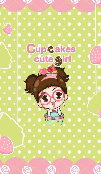 Cupcakes - Cupcakes cute girl.