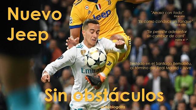 Anuncio del Nuevo Jeep - Sin obstáculos - Testado en el Santiago Bernabéu al término del Real Madrid - Juve - el troblogdita - Fue penalti sobre Lucas Vázquez