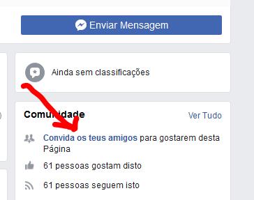 Como convidar todos os amigos de uma só vez para gostarem de uma página do Facebook