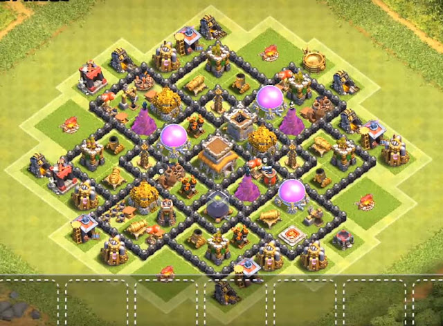 best th8 farming base layout 2018