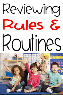 school and classroom routines and procedures review after the holidays