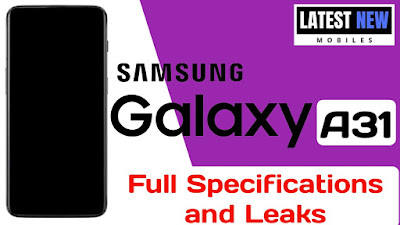 Samsung Galaxy A31 full Specifications